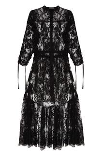 Черное кружевное платье Alexander Mc Queen