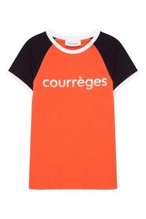 Красная футболка с логотипом Courreges