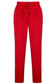 Красные брюки из шелка RED Valentino