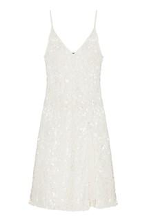 Белое платье-миди с пайетками Artem Krivda