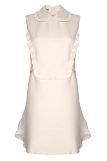 Платье из шерсти и шелка Miu Miu