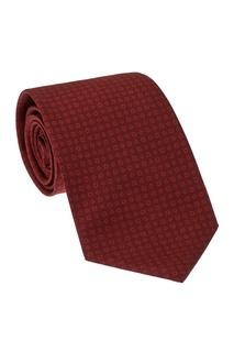 Бордовый шелковый галстук Cesare Attolini