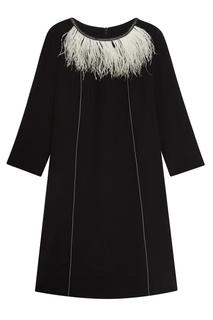 Платье с перьями Dorothee Schumacher