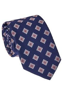 Синий шелковый галстук Canali