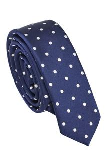 Синий галстук из шелка в горох Dolce & Gabbana