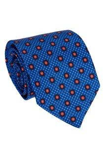 Шелковый галстук с точками Canali