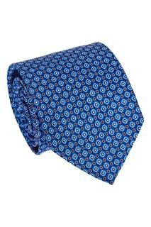 Шелковый галстук с ромбами и цветами Canali