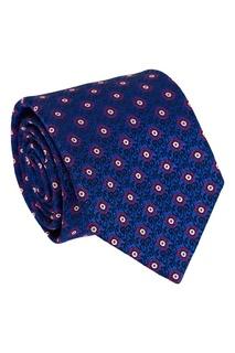 Шелковый галстук с яркими цветами Canali