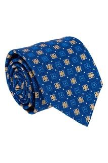 Шелковый галстук с контрастным орнаментом Canali