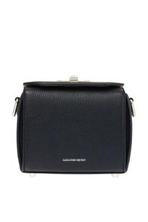 Черная сумка с платком The Box Alexander Mc Queen