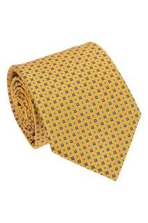 Желтый шелковый галстук с орнаментом Canali