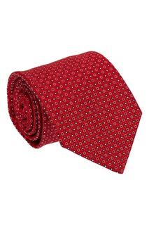 Красный шелковый галстук с цветами Canali