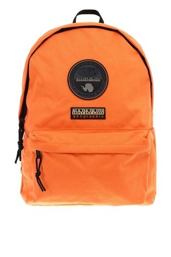Оранжевый текстильный рюкзак с логотипом