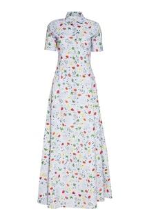 Длинное хлопковое платье-рубашка Alexander Terekhov