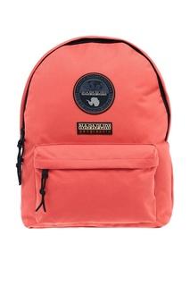 Красный рюкзак с нашивками Napapijri