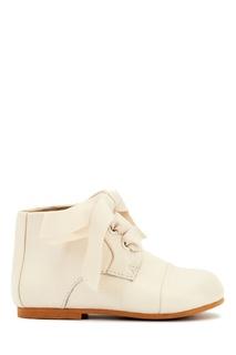 Кожаные ботинки молочного цвета Jane Age of Innocence