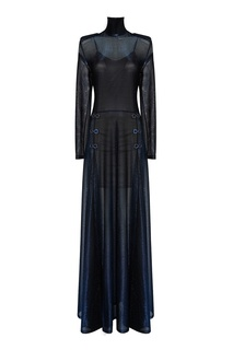 Трикотажное платье-макси с люрексом Esve