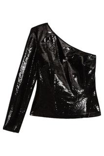 Асимметричная блузка в пайетках Diane von Furstenberg