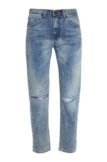 Вареные джинсы с прорезями One Teaspoon