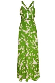 Шелковое платье с принтом No.21