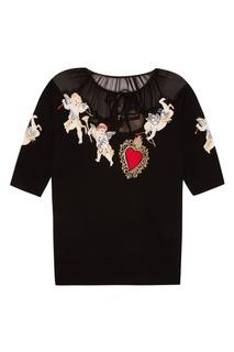 Джемпер с аппликацией Dolce & Gabbana
