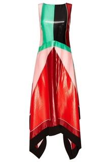 Платье из шелка с металлизированной нитью Diane von Furstenberg