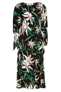 Шелковое платье с лилиями Diane von Furstenberg