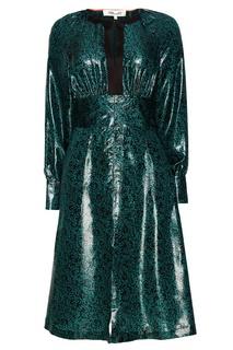 Шелковое платье с люрексом Diane von Furstenberg