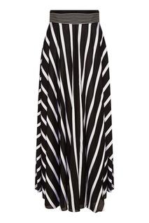 Расклешенная юбка в черно-белую полоску Diane von Furstenberg