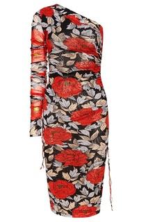 Асимметричное платье с драпировками Diane von Furstenberg