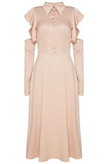 Шелковое платье пудрового цвета ЛИ ЛУ