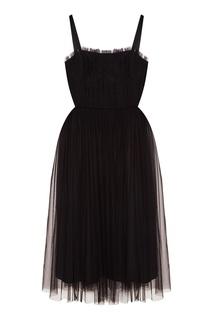 Черное платье из сетки ЛИ ЛУ