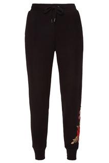 Черные брюки с цветочным декором PJ Salvage