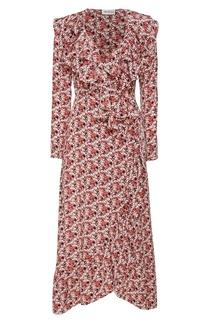 Платье с мелкими цветами ЛИ ЛУ