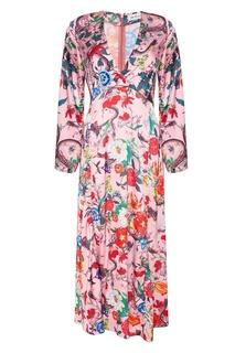 Розовое платье с цветами ЛИ ЛУ