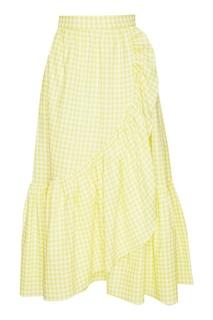 Хлопковая юбка-миди с воланом ЛИ ЛУ