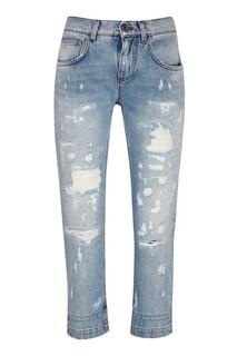 Голубые потертые джинсы Dolce & Gabbana