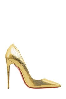 Золотистые туфли So Kate 120 Christian Louboutin