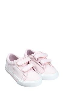 Розовые текстильные кеды Ralph Lauren Children
