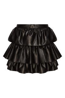 Черная юбка-мини с воланами Stella Mc Cartney