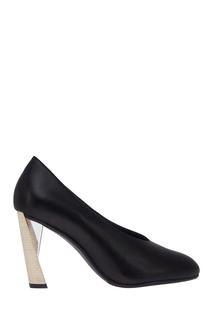 Черные туфли из кожи Zink Pump HI United Nude