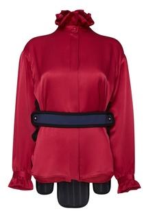 Шелковая блузка с деталью на спине Balenciaga