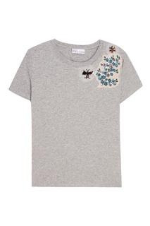 Хлопковая футболка с аппликацией RED Valentino
