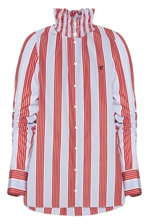 Блузка в полоску Carven