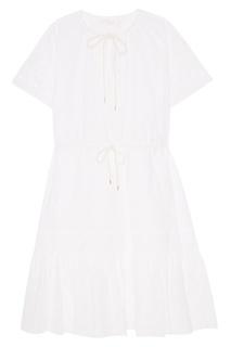 Белое платье из вышитого хлопка See By Chloé