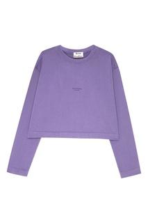 Фиолетовый джемпер из хлопка Odice Acne Studios