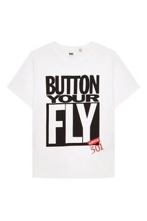 Белая футболка SS SURPLUS GRAPHIC TEE BUTTON YO Levis®