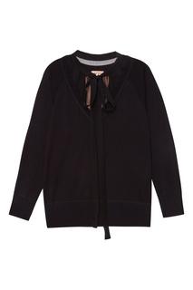 Комбинированный пуловер из хлопка No.21