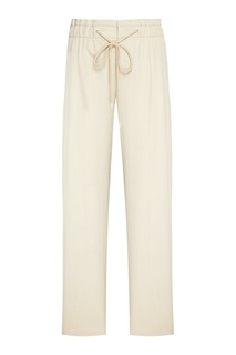 Широкие брюки бежевого цвета Vince