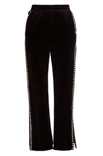 Бархатные брюки с кристаллами Mo&Co